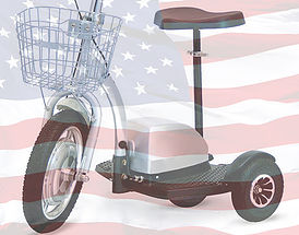 five star scooter with US Flag
